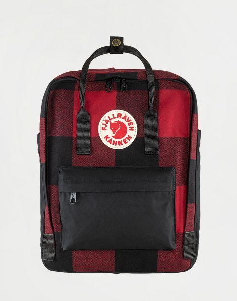 Fjällräven Kanken Re-Wool 320-550 Red-Black 16 l