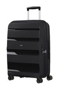 American Tourister Skořepinový cestovní kufr Bon Air DLX M EXP 66/73 l – černá