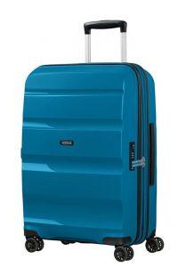American Tourister Skořepinový cestovní kufr Bon Air DLX M EXP 66/73 l – modrá