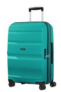 American Tourister Skořepinový cestovní kufr Bon Air DLX M EXP 66/73 l – tyrkysová