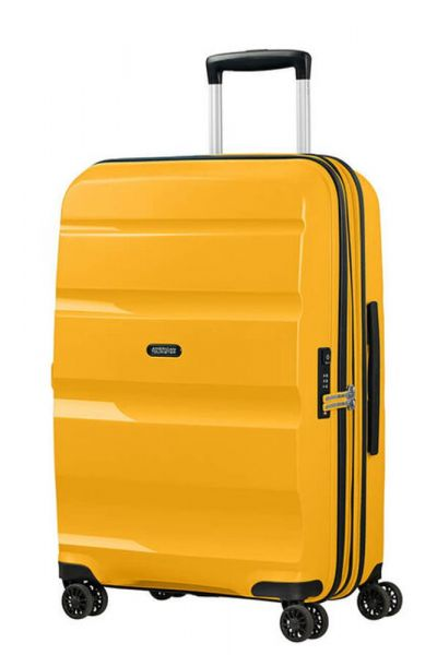 American Tourister Skořepinový cestovní kufr Bon Air DLX M EXP 66/73 l – žlutá
