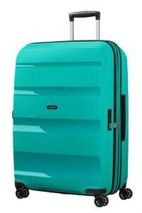 American Tourister Skořepinový cestovní kufr Bon Air DLX L EXP 104/117 l – tyrkysová