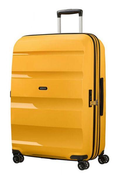 American Tourister Skořepinový cestovní kufr Bon Air DLX L EXP 104/117 l – žlutá