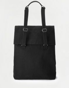 Qwstion Flap Tote Medium All Black 14 l