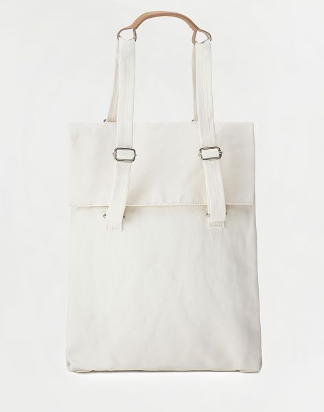 Qwstion Flap Tote Medium Natural White 14 l