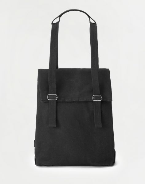 Qwstion Flap Tote Small All Black 11 l