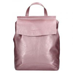Dámský kožený batoh Facebag Stella – růžová