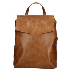 Dámský kožený batoh Facebag Stella – koňak