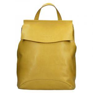 Dámský kožený batoh Facebag Stella – žlutá