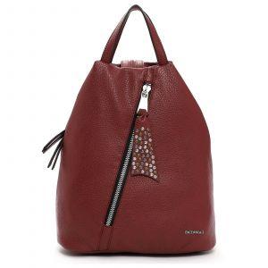 Elegantní dámský batoh Emily & Noah Nicol – červená