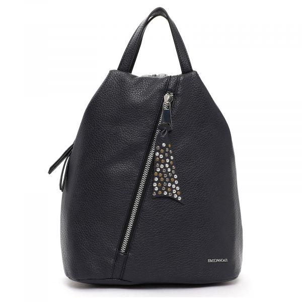 Elegantní dámský batoh Emily & Noah Nicol – modrá