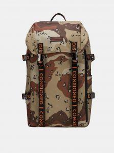 Hnědý pánský maskáčový batoh Consigned