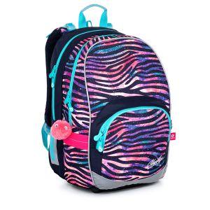 Dívčí školní batoh zebra Topgal KIMI 21010 G