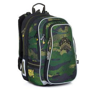 Objemný školní batoh maskáčový Topgal LYNN 21018 B