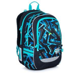 Školní batoh modrý s černým vzorem Topgal CODA 21020 B