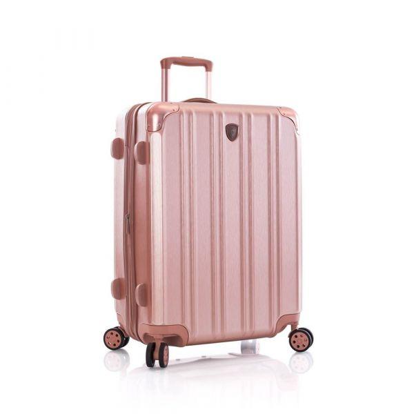 Heys Skořepinový cestovní kufr DuoTrak M Rose Gold 93 l