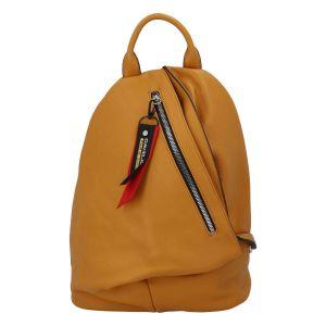 Módní dámský batoh David Jones Enita – žlutá