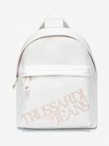 Batoh Trussardi Backpack Ecoleather Light Gold Studs Bílá 887956