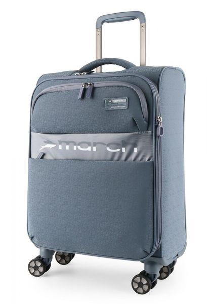 March Kabinový cestovní kufr Mosaic S EXP 38 l – modro-šedá