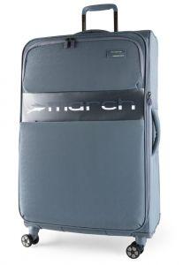 March Látkový cestovní kufr Mosaic L EXP 93/105 l – modro-šedá