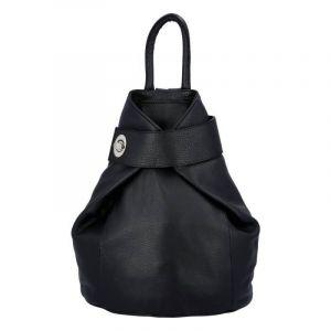 Dámský kožený batoh Delami Miriam – černá