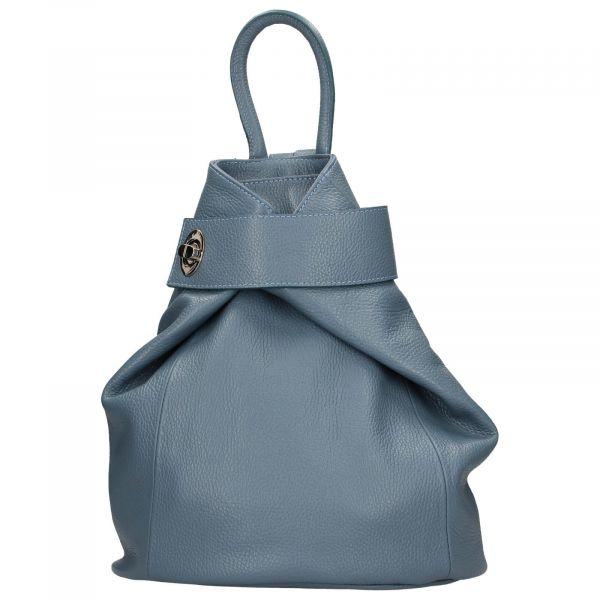 Dámský kožený batoh Delami Miriam – modrá