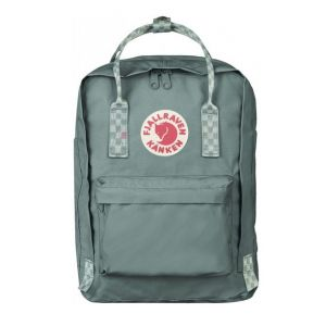 Kanken Laptop 13 Frost Green-Chess Pattern