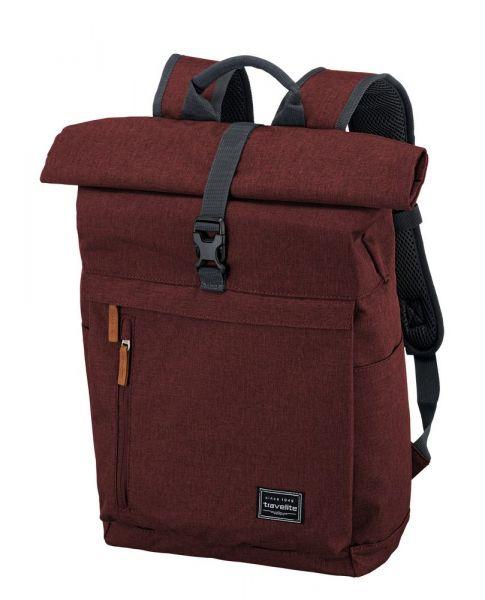 Travelite Městský batoh Basics Roll-up Backpack Bordeaux 35 l