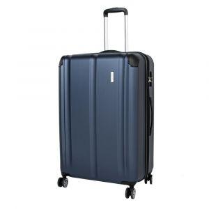 Travelite Skořepinový cestovní kufr City 4w L Navy 113/124 l