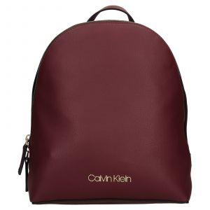 Dámský batoh Calvin Klein Valoa – vínová