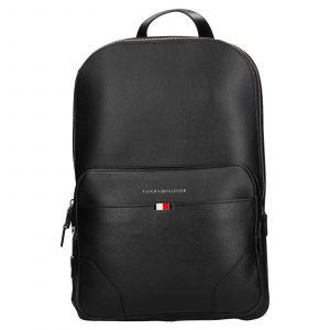 Pánský kožený batoh Tommy Hilfiger Sima – černá