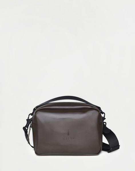 Rains Box Bag Shiny Brown