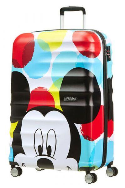 American Tourister Cestovní kufr Wavebreaker Disney Spinner 96 l – Mickey Close-Up