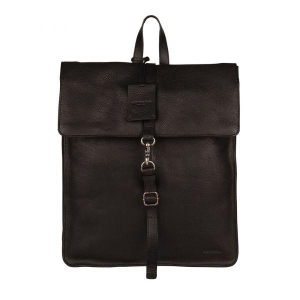 Dámský kožený batoh Burkely Alma – černá