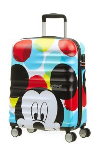 American Tourister Kabinový cestovní kufr Wavebreaker Disney Spinner 36 l – Mickey Close-Up