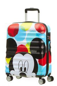 American Tourister Kabinový cestovní kufr Wavebreaker Disney Spinner 36 l – Mickey Close-Up