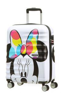 American Tourister Kabinový cestovní kufr Wavebreaker Disney Spinner 36 l – Minnie Close- UP