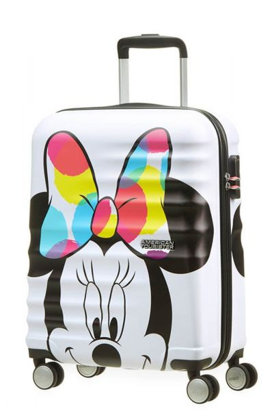 American Tourister Kabinový cestovní kufr Wavebreaker Disney Spinner 36 l – Minnie Close- UP