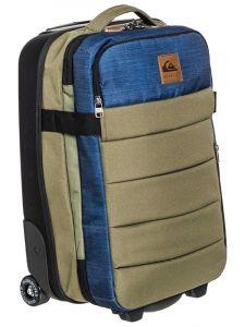 Quiksilver NEW HORIZON BURNT OLIVE kufr do letadla – zelená