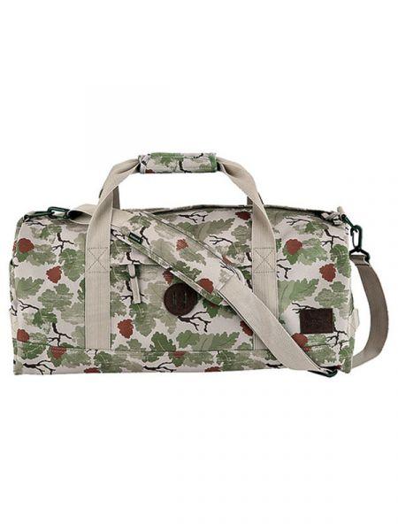 Nixon PIPES DUFFLE KHAKICAMO cestovní taška – zelená
