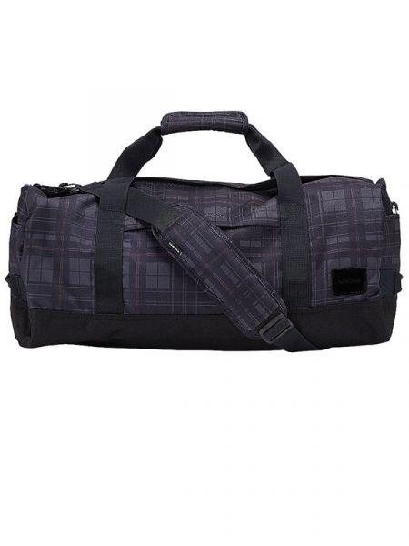 Nixon PIPES DUFFLE DARKGRAY cestovní taška – černá