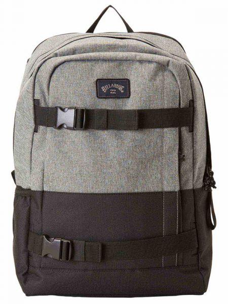 Billabong COMMAND SKATE grey heather batoh do školy – černá
