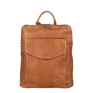 Dámský kožený batoh Burkely Fiona – koňak