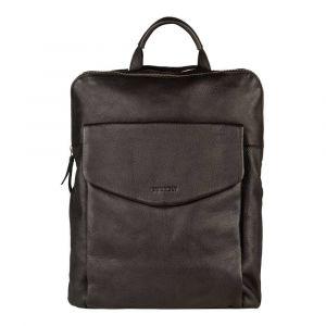 Dámský kožený batoh Burkely Fiona – černá