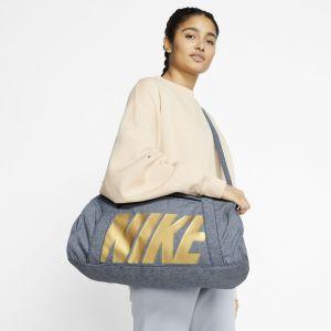 Women's Nike Gym Club Training Duffel Bag OBSIDIAN/OBSIDIAN/METALLIC GOLD