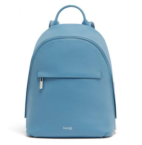 Lipault Dámský kožený batoh Invitation S – světle modrá