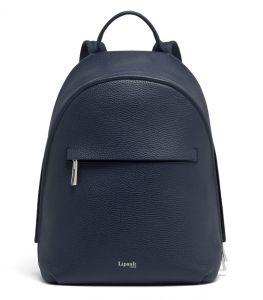 Lipault Dámský kožený batoh Invitation S – tmavě modrá