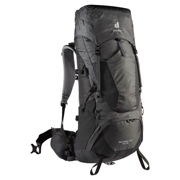 Turistický batoh Deuter Aircontact Lite 40 + 10 graphite-black