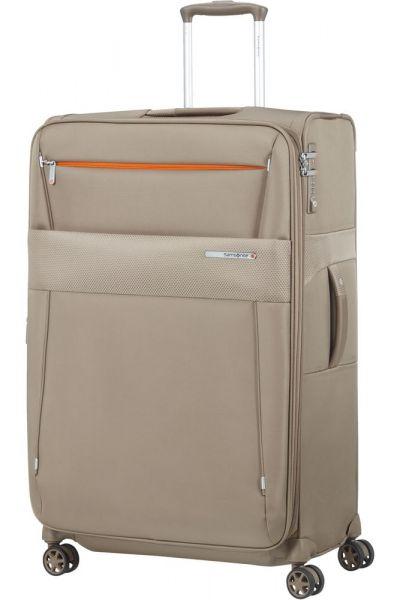 Samsonite Látkový cestovní kufr Duopack EXP 1 Frame 113/123 l – béžová