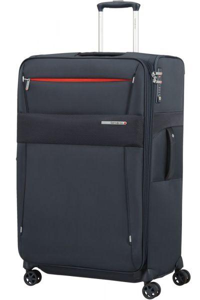 Samsonite Látkový cestovní kufr Duopack EXP 1 Frame 113/123 l – tmavě modrá